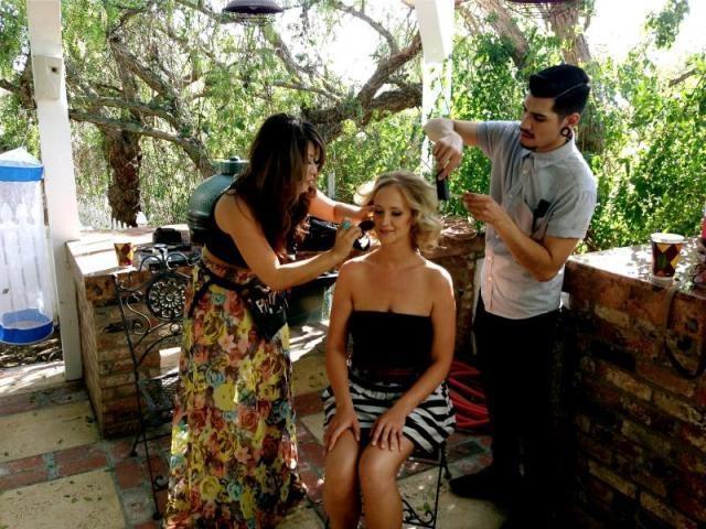 Doing Hair & Make-up for this Blushing Bride