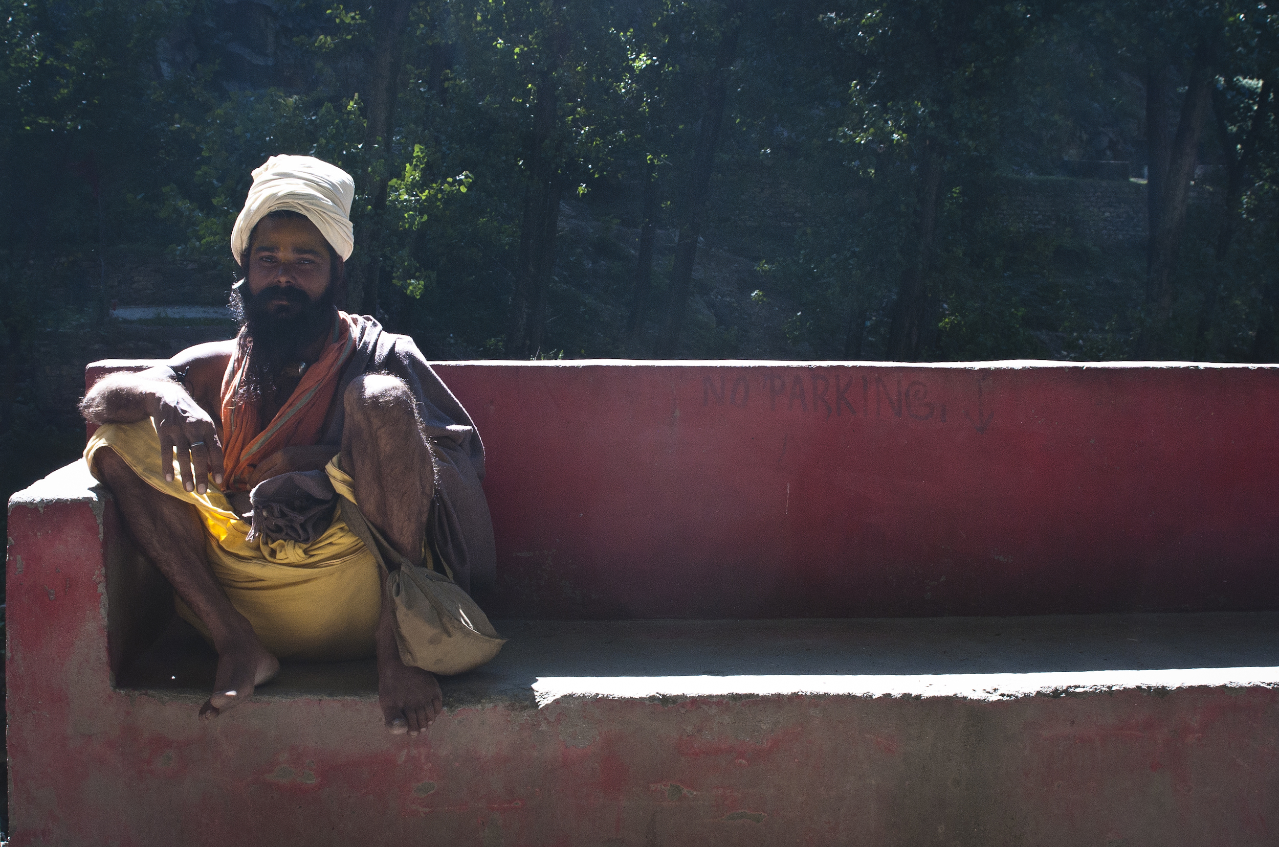 One of my first interactions with a Baba in the Paravati Valley