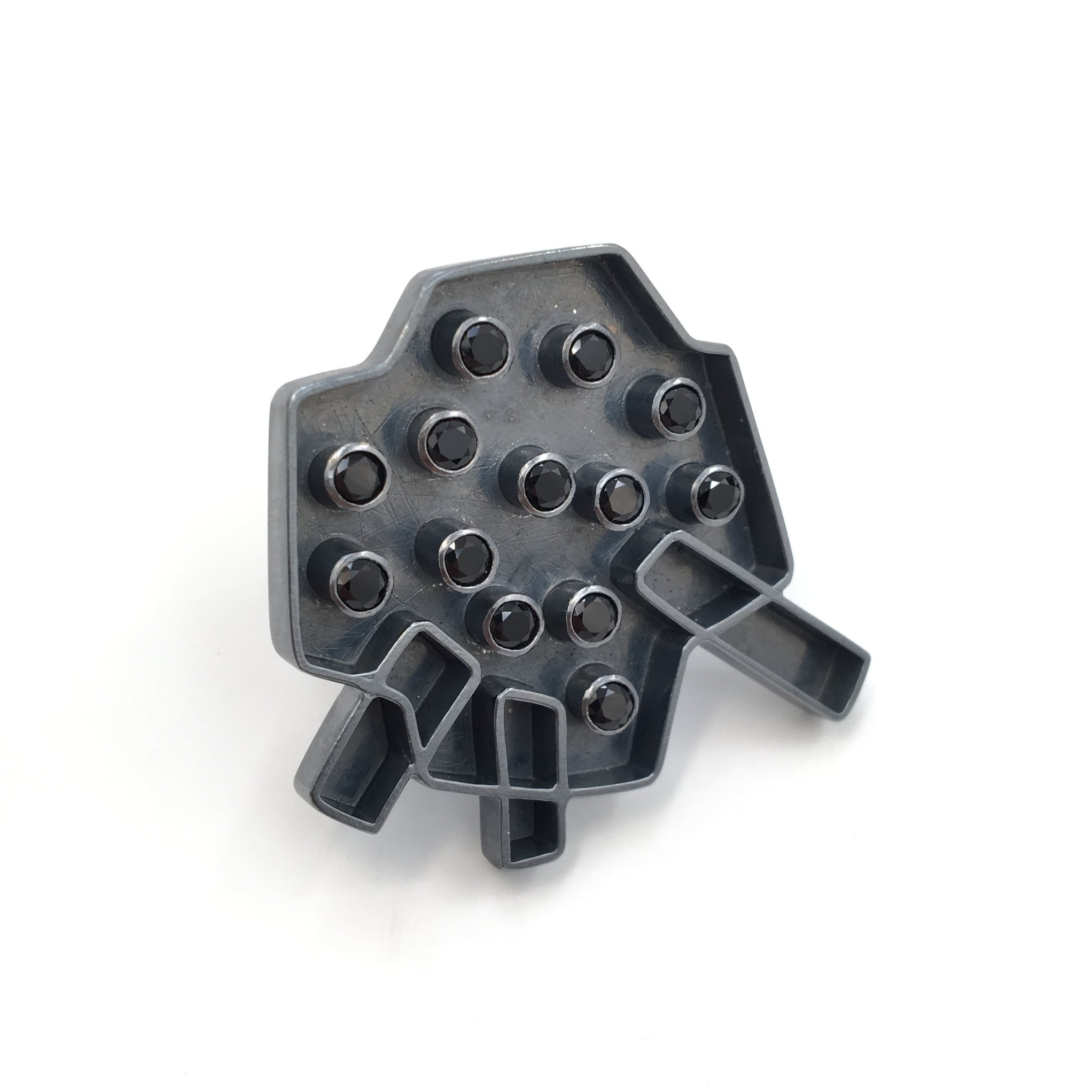 Spinel Studded Plus Ring