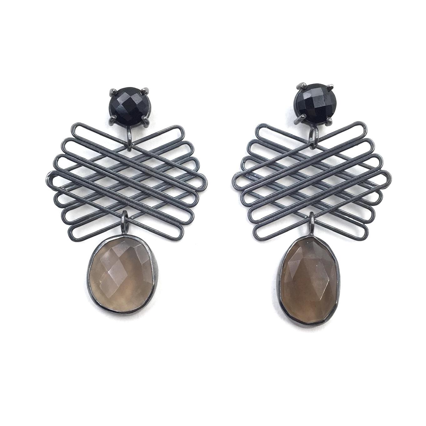 Smokey Fan Earrings