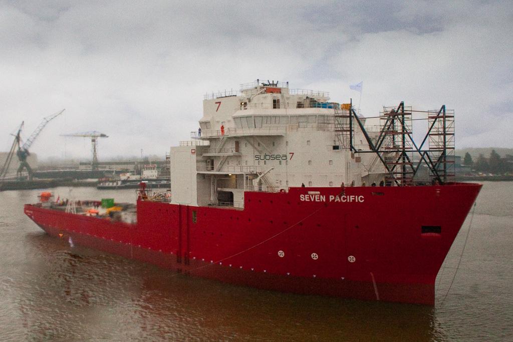 Het schip volledig in beeld