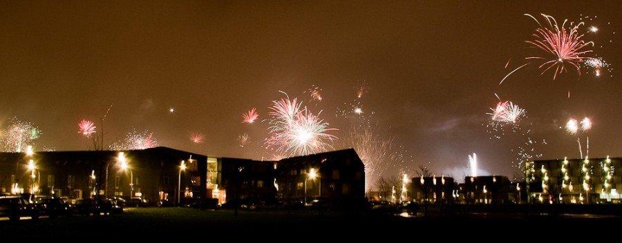 vuurwerk in Ypenburg