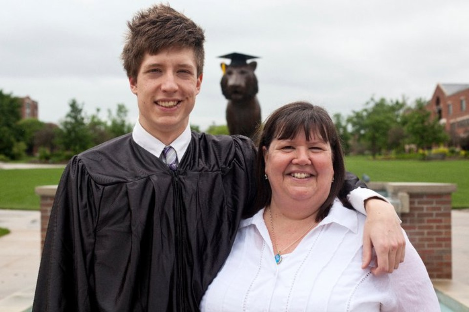 My mom and I the day I graduated from college