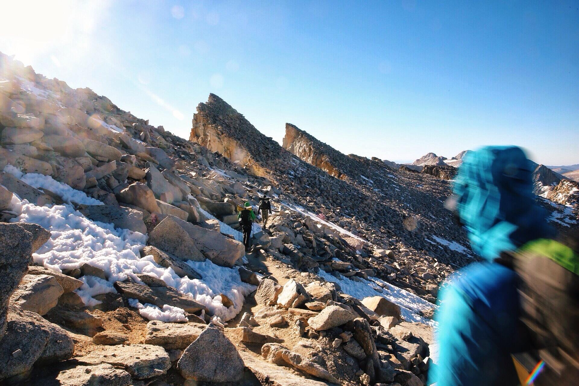 The teeth near the summit.