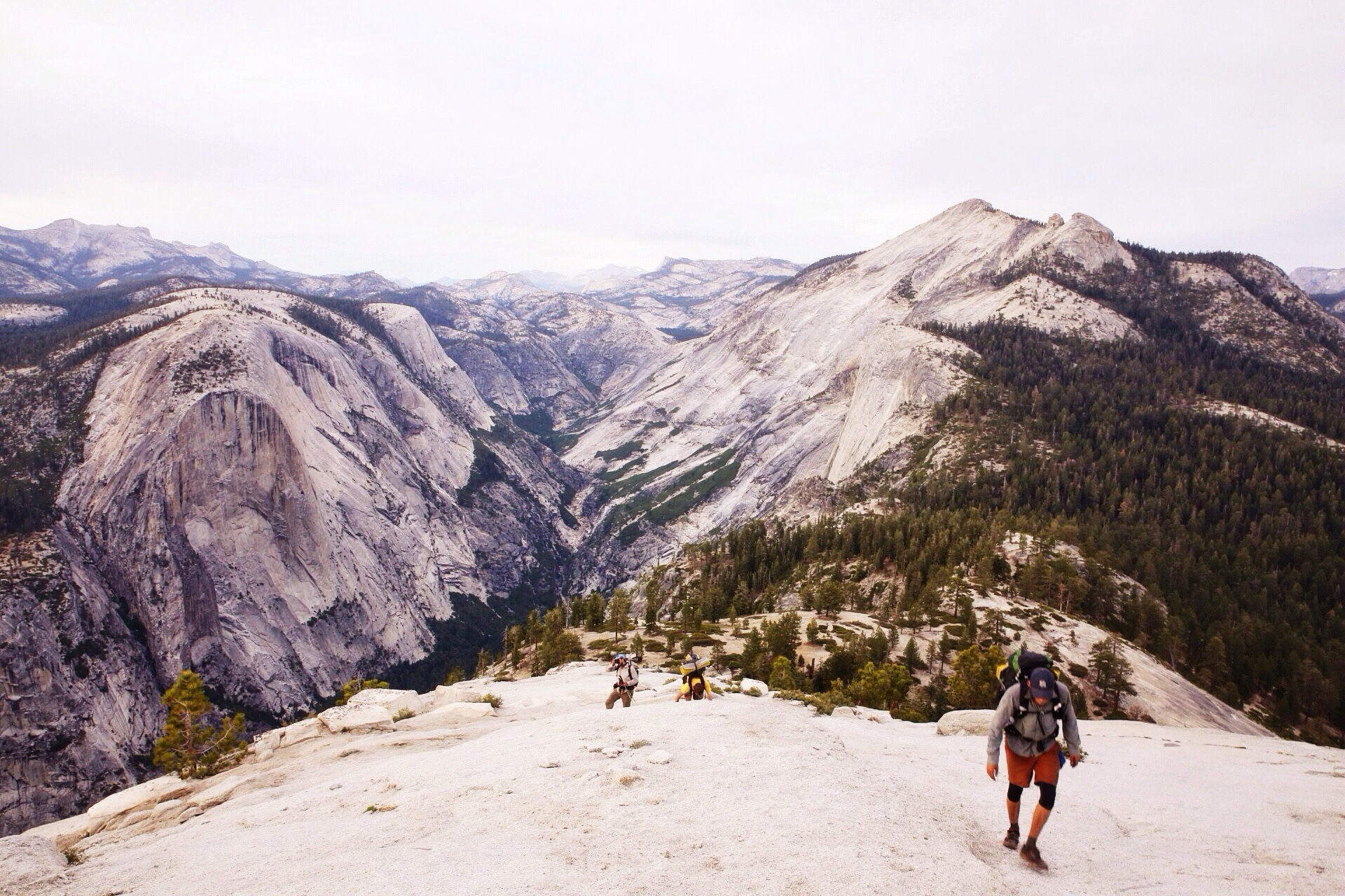 Ascending Half Dome and realizing how beautiful our surroundings are.