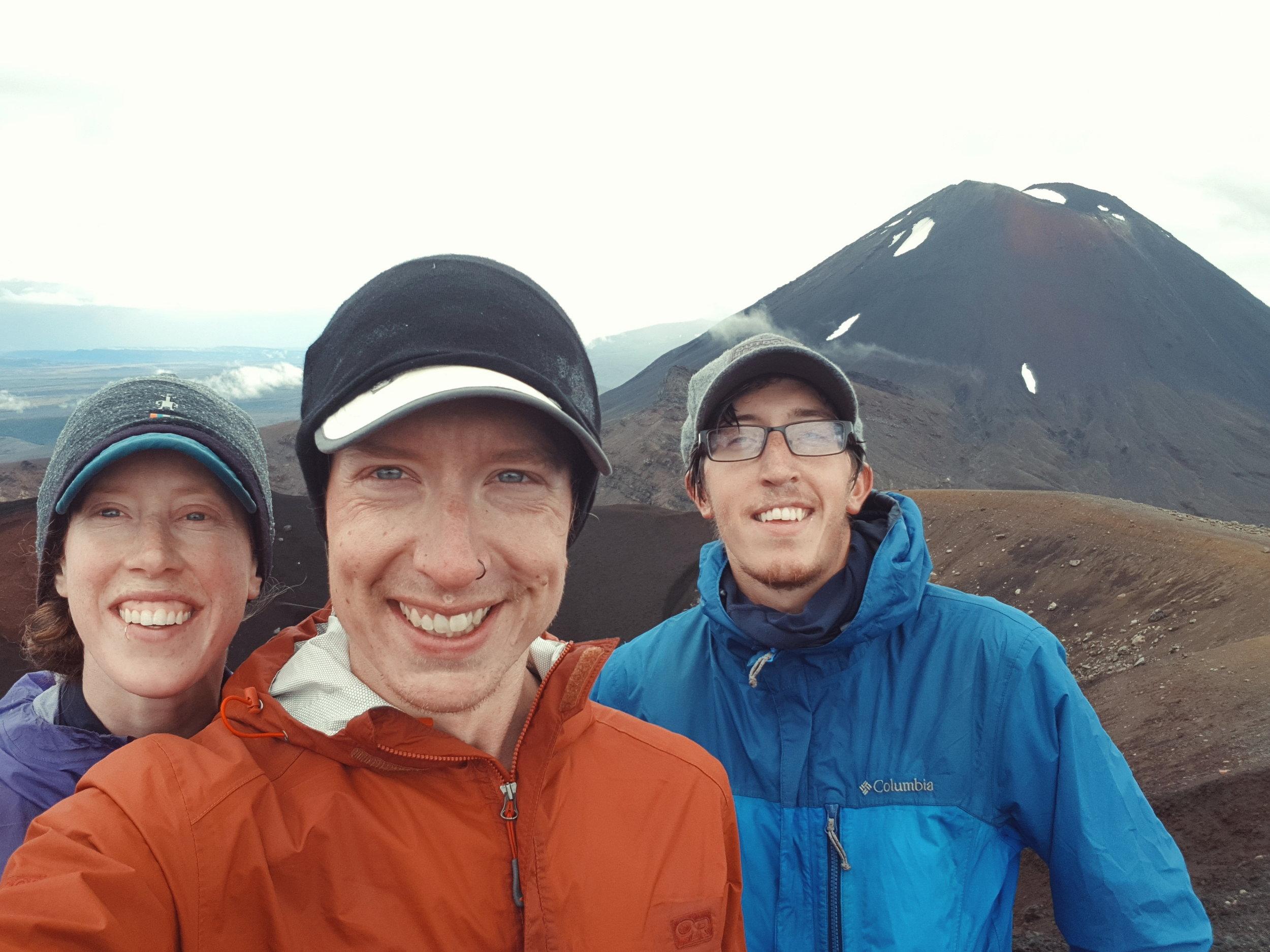 Obligatory selfie in front of Ngauruhoe (Mount Doom).  photo/ Jonathan