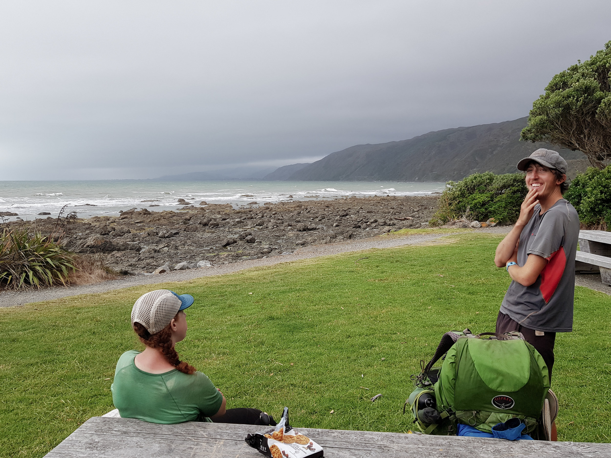 Beachfront camping with beautiful hiker trash  photo/ Jonathan