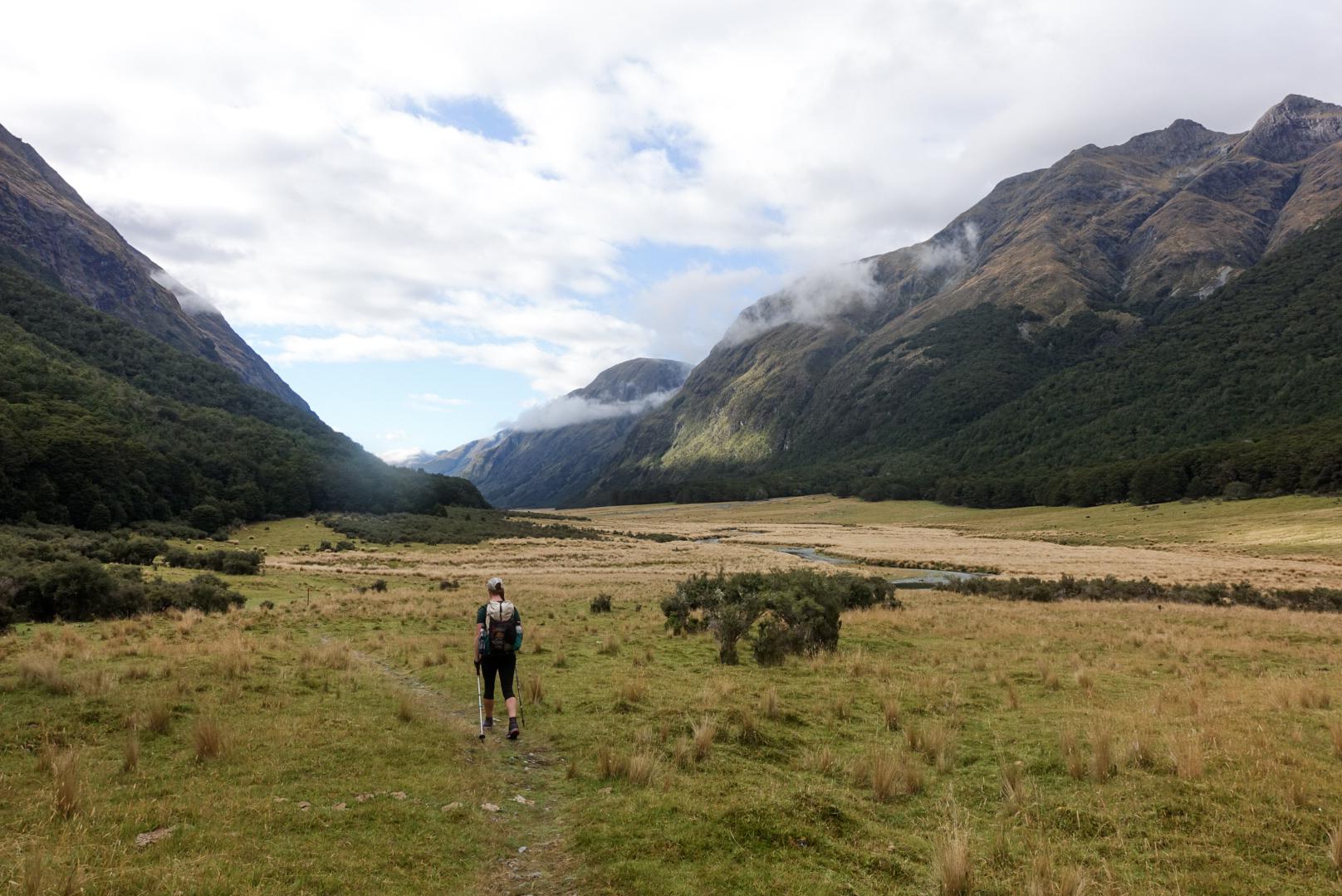 Walking down the Greenstone Valley  photo/ Jonathan