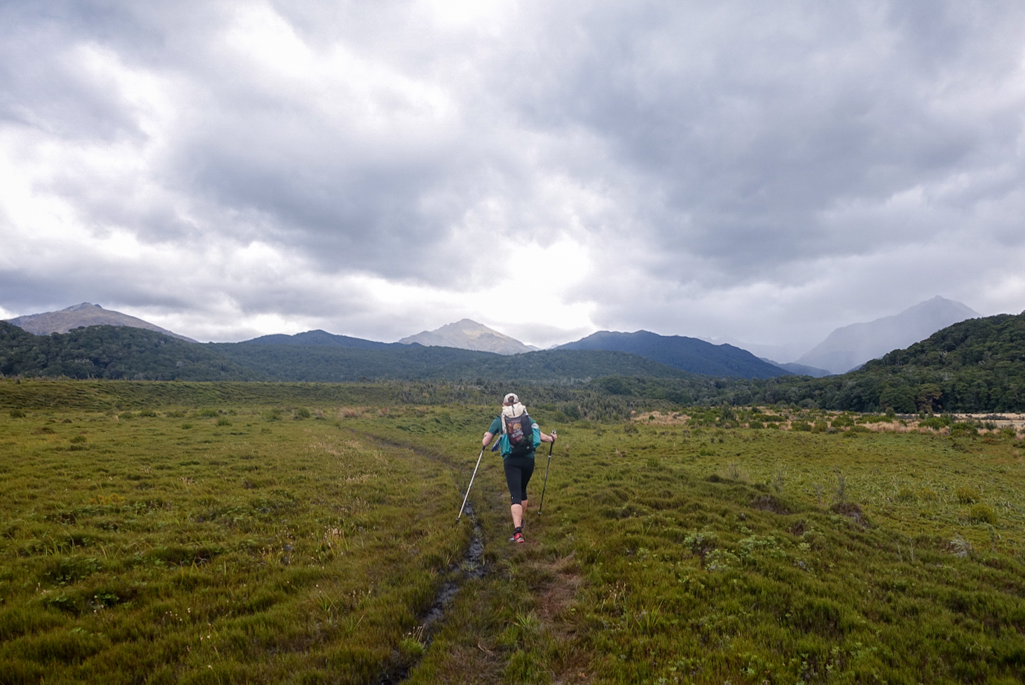 Miles of oily peat bog squishing underfoot  photo/ Jonathan