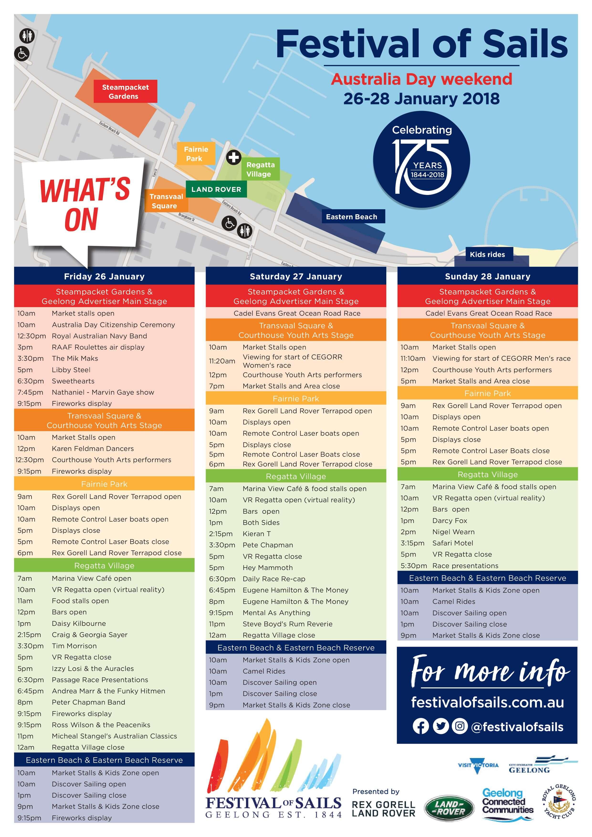 Festival Of Sails event guide