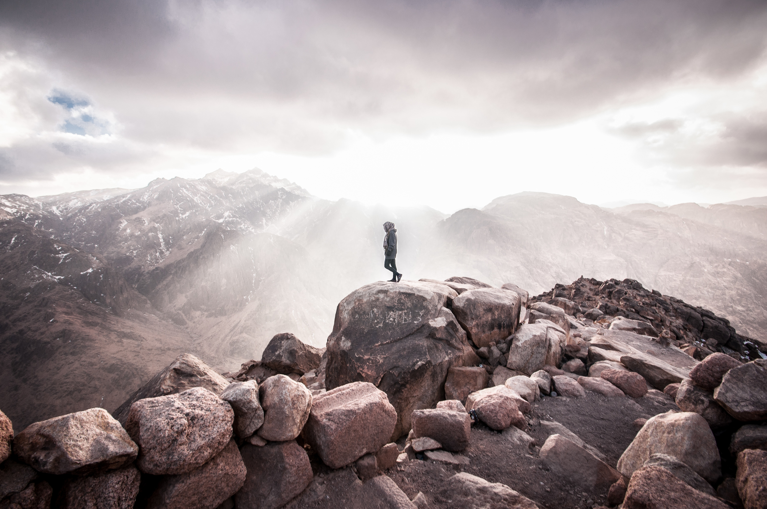 At The Summit of Mt. Sinai, Egypt