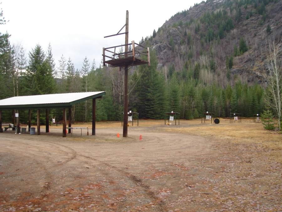 West Kootenay Archers 100 meter range