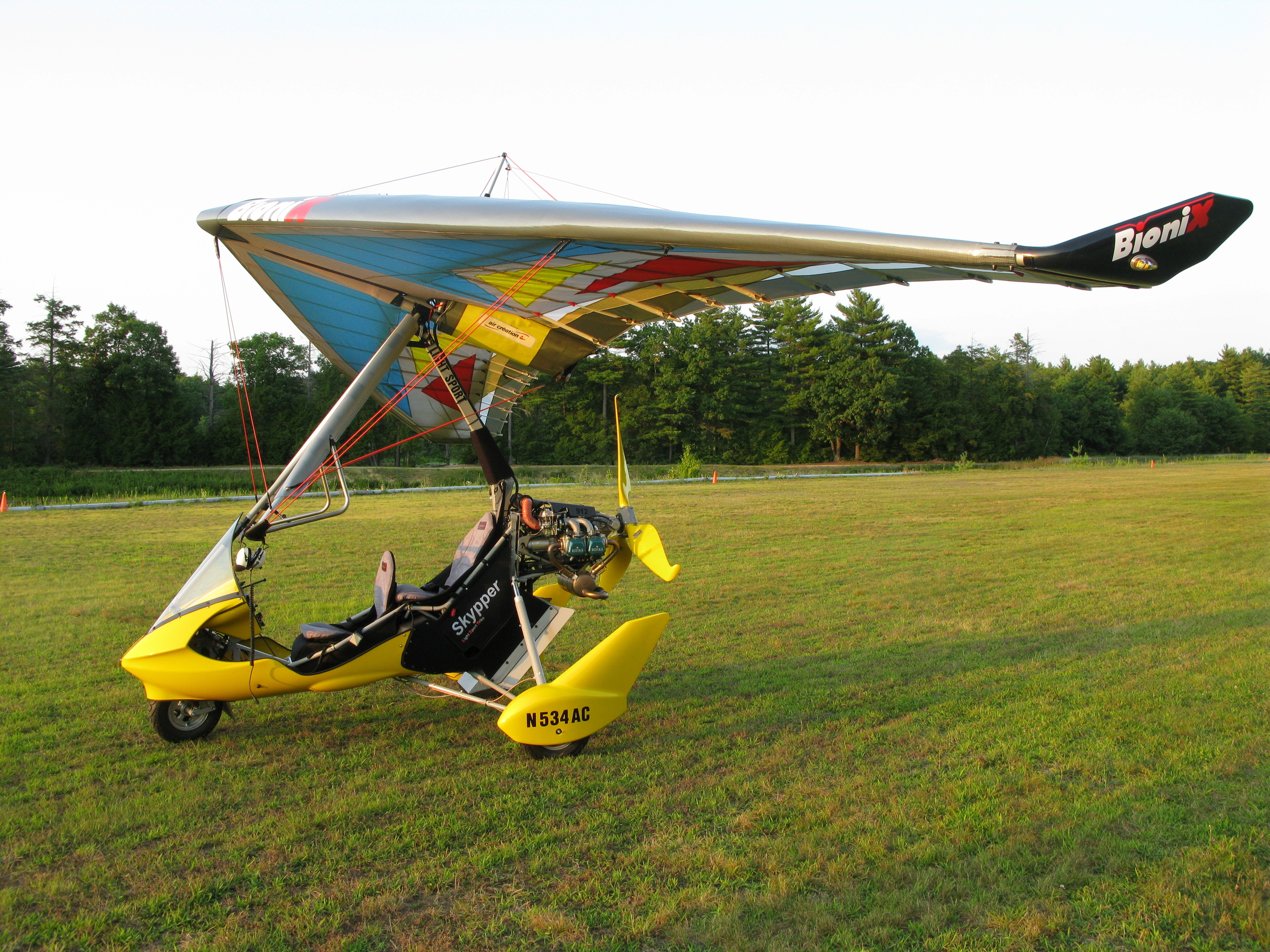 Now flying our new trainer an Air Creation Skypper