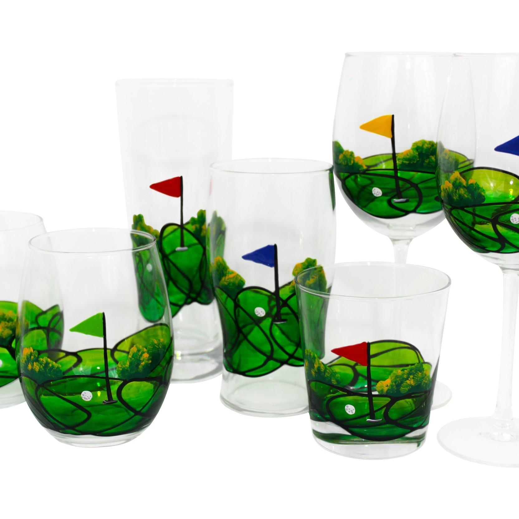 On the GreenCollection - For the golfer in the family. Wine, whiskey, stemless, and beer styles.