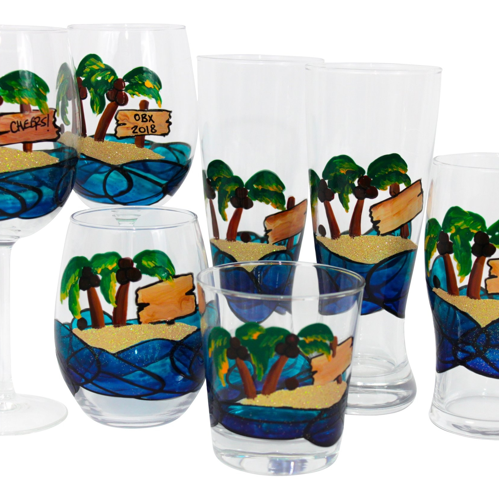 Beach, Anchors, Sea Life - Lighthouses...Crabs...Fish...Turtles... Find your perfect summer glass