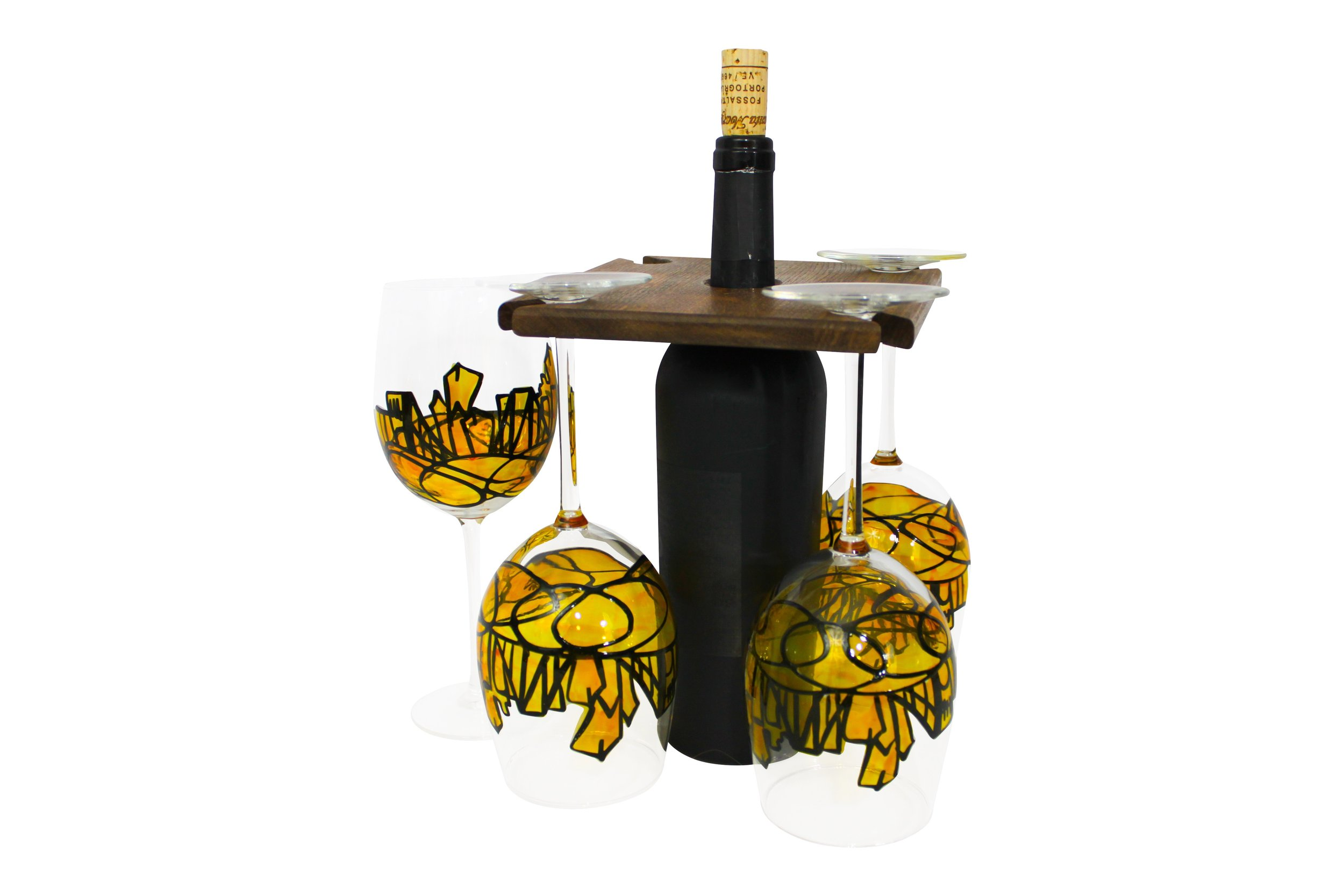 pittsburgh wine glasses pittsburgh gifts pittsburgh sports gifts hand painted glasses.jpg