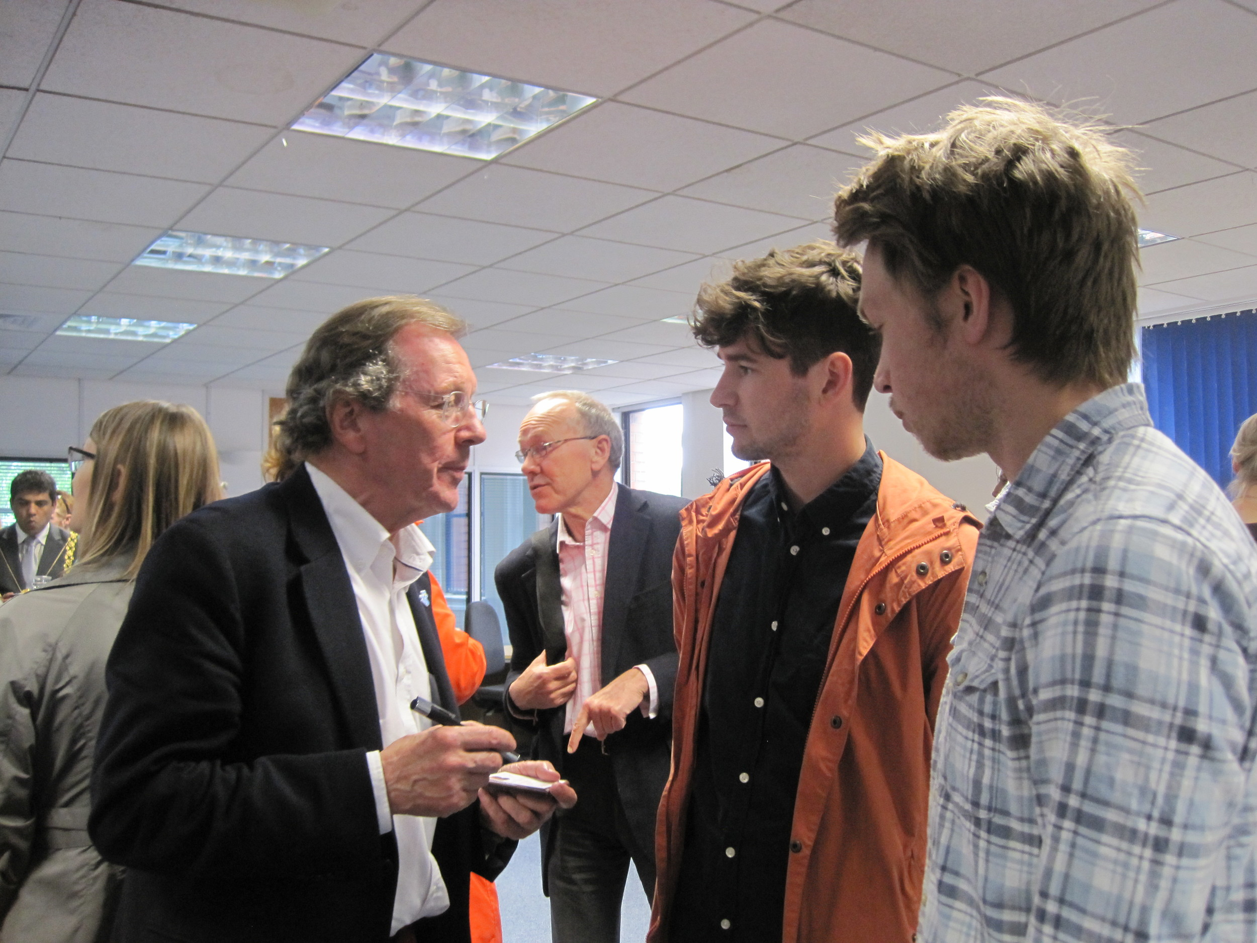 Joe and Adam interview the mayor