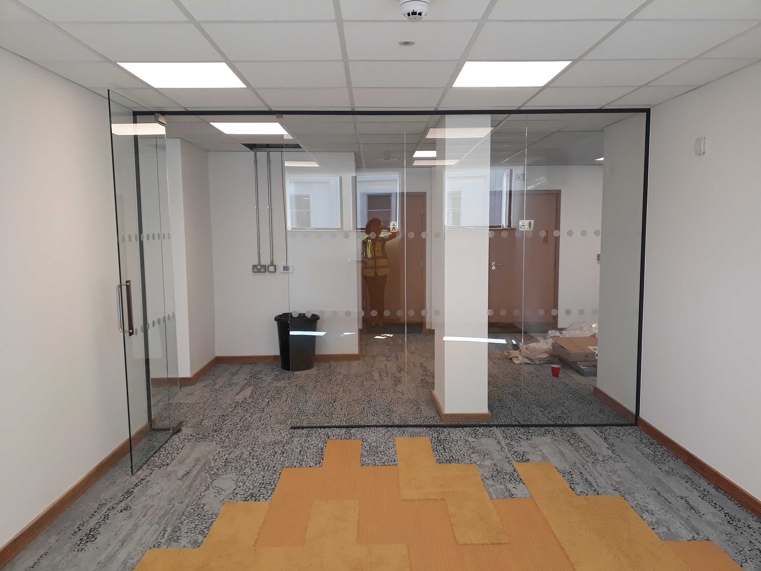 Glass fronted meeting rooms