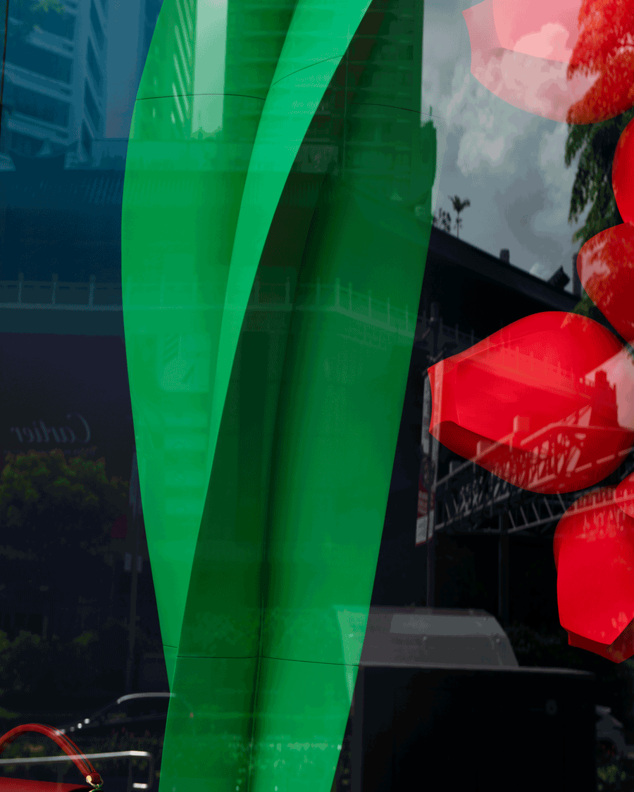 'Prada Window' © Naida Ginnane 2018 Nikon D800, 24-70mm lens, f/9.0, 1/200, ISO 100  Some 'greens' are completely artificial like this deeply saturated emerald green shop window decoration.