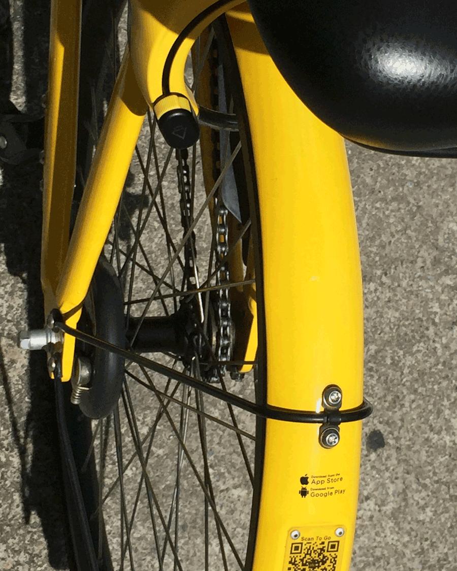 'Bike Yellow' © Sean Ginnane 2018 Fujifilm XT-1. An all too familiar bright yellow we see in our city.