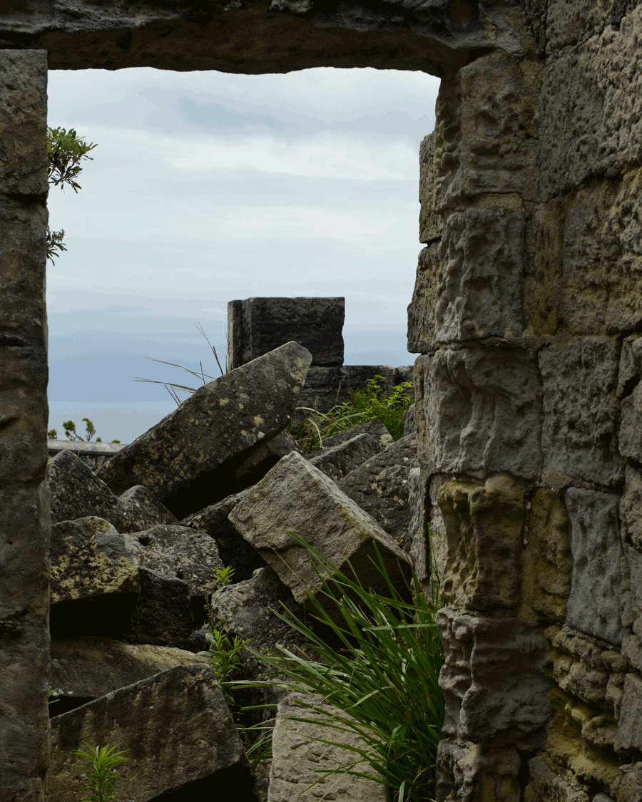 'Collapsed' © Naida Ginnane 2017 Nikon D800 24-70mm lens,1/ 125, f/11, ISO 100, -33.The stone block walls of this convict built lighthouse have collapsed over time.
