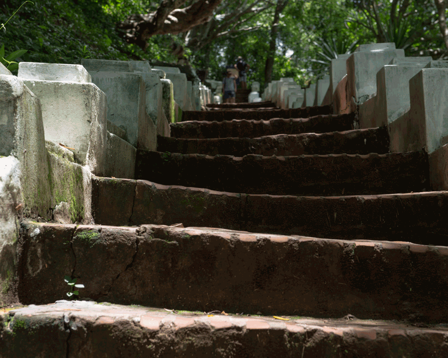 'Worn Stairs' © Naida Ginnane 2018 Nikon D800 24-70mm lens,1/ 80, f/10, ISO 100, -67. Countless numbers of feet have worn these steps down over many years.