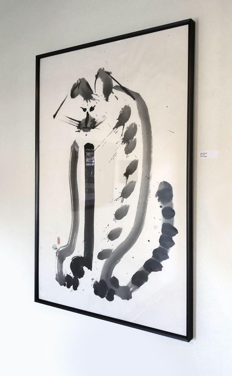 "Self Portrait / 42"" x 29"" / Ink on paper"