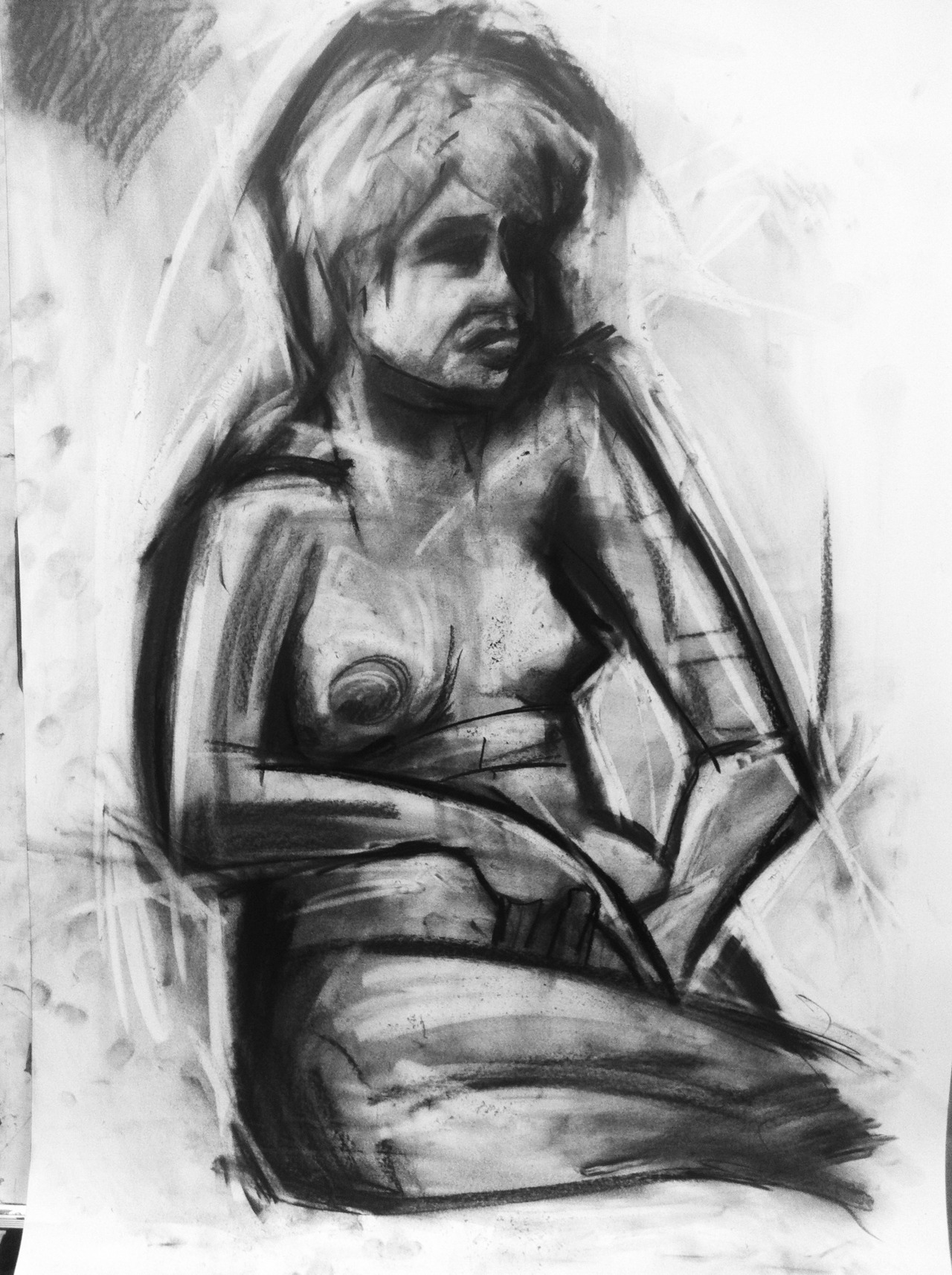 Abstract Seated Nude, 2012