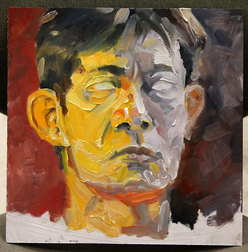 Colored Light Study on Face (Unfinished), 2013