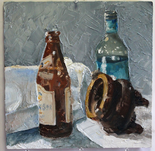 Still Life with Bottles and Pottery, 2013