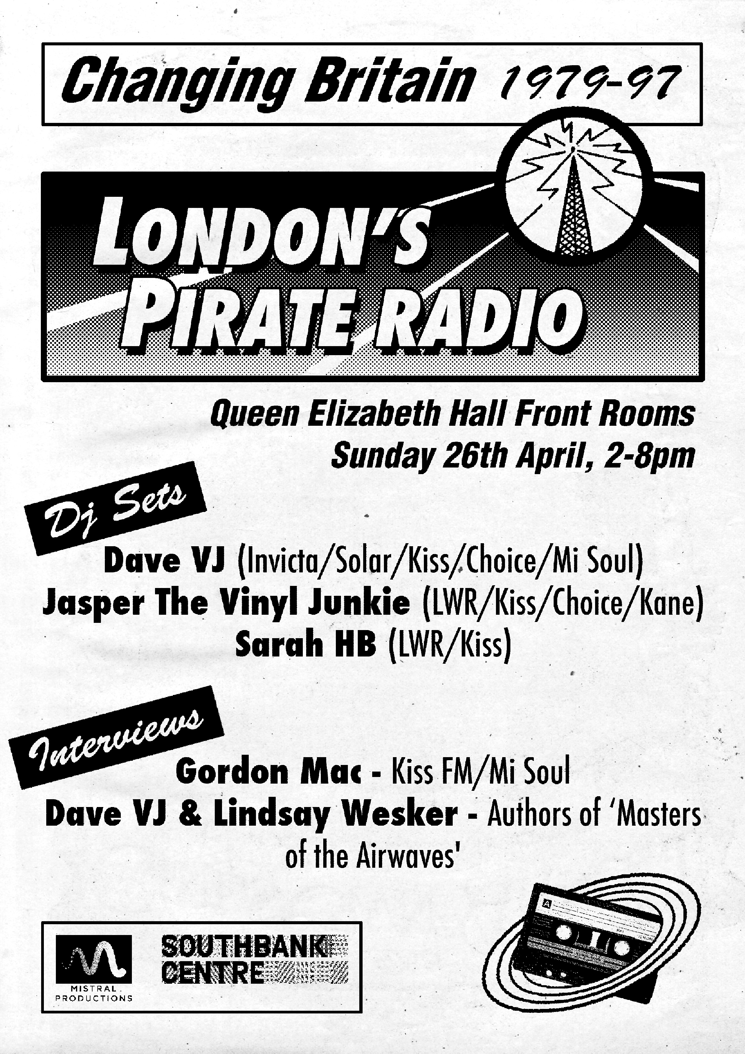 The flyer for the event, designed by adam bletchly.