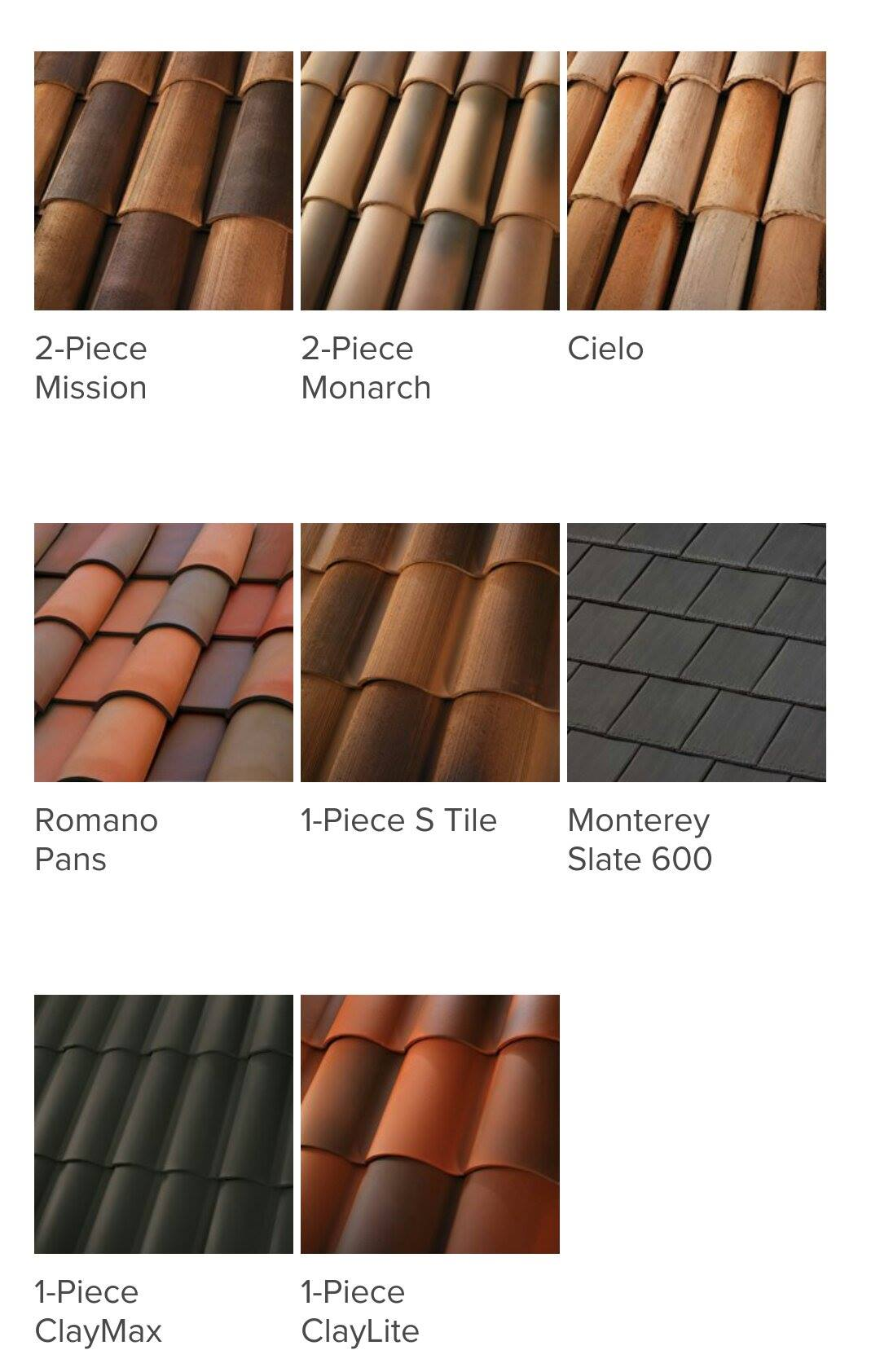 Clay Tile Roofing Styles