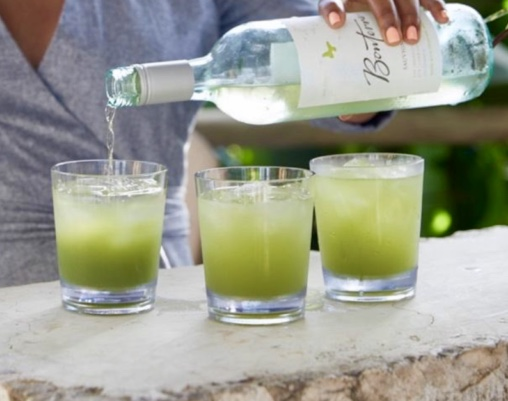 Cucumber-Basil Lemonade - Servings: 8Ingredients:2 cups of roughly chopped, skin-on English cucumbers1 cup of lemon juice1 cup of water1/2 to 3/4 cup of local honey1/4 cup of fresh basil leaves1/2 cup of sparkling water, Prosecco, or a crisp, fruity white wineInstructions:In a blender, pulse 1 roughly chopped, skin-on English cucumber (about 2 cups); juice of 6 lemons (about 1 cup); 1 cup water; ½ to ¾ cup local honey (depending on desired sweetness); and ¼ cup fresh basil leaves until ingredients are combined and liquefied. Fill 8 tumblers with ice and divide lemonade evenly between glasses. Top each glass off with ½ cup of sparkling water, Prosecco, or a crisp, fruity white wine, such as Bonterra Organic Sauvignon Blanc.For a little kick, add a splash of Bonterra Organic Sauvignon Blanc to the Cucumber-Basil Lemonade.modernfarmer.com