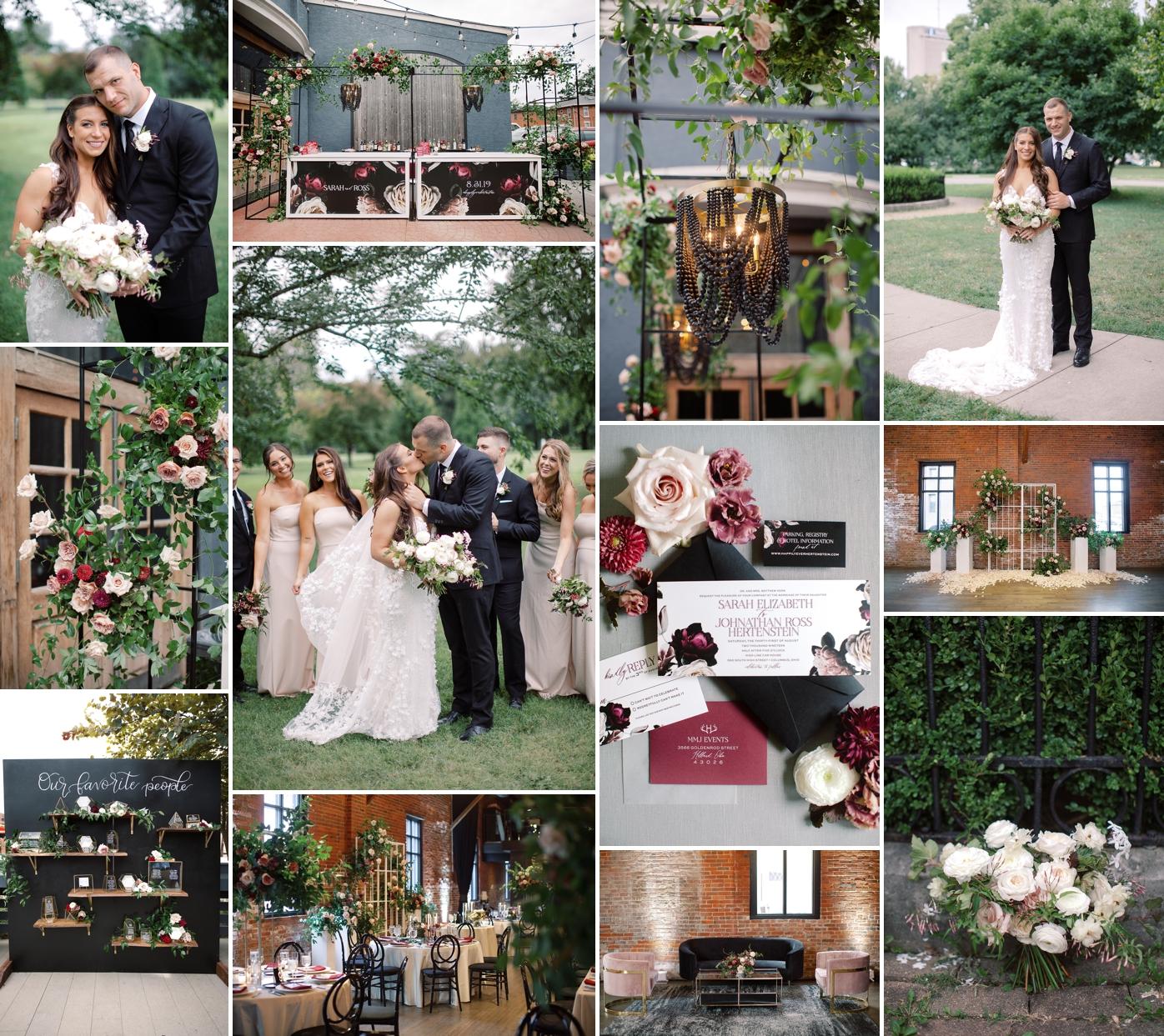 the highline car house wedding photography, city wedding in columbus Ohio