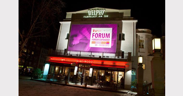 Großflächenplakat Delphi-Kino, Berlinale Forum / Forum Expanded 2012