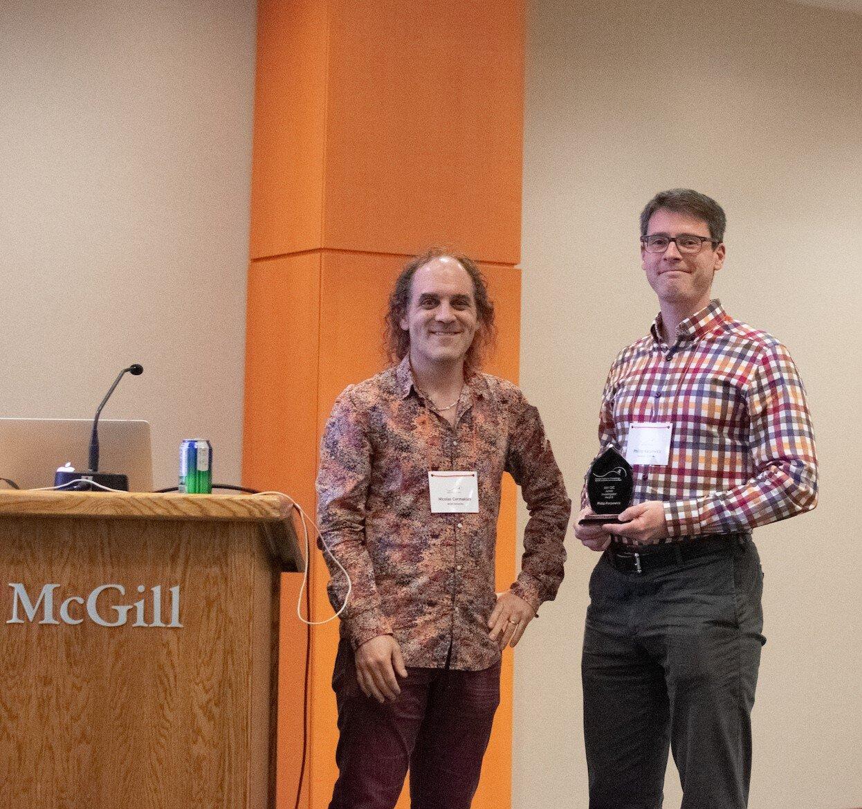 CSC Junior investigator Award Left to right: Nicolas Cermakian, Phillip Karpowicz