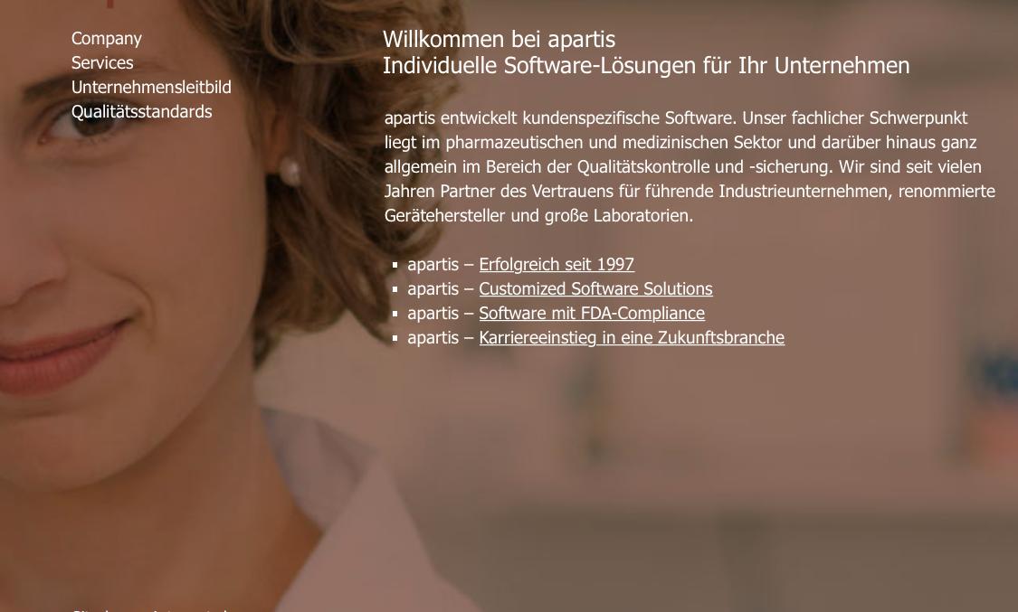 Zweisprachige Webseite in Deutsch und Englisch