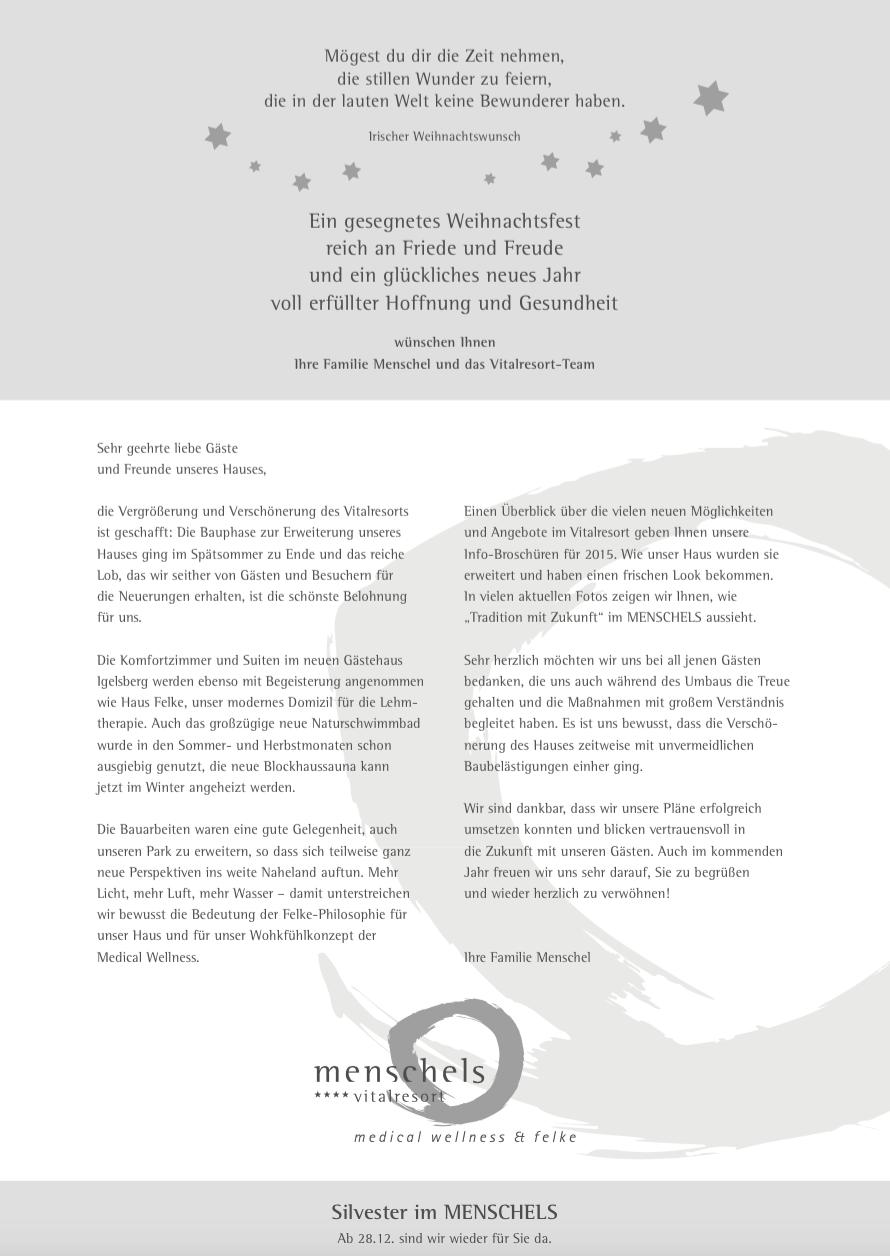 Texter für Kundenbrief