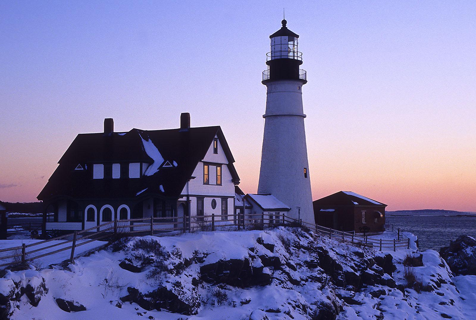 Portland Head Lighthouse Winter