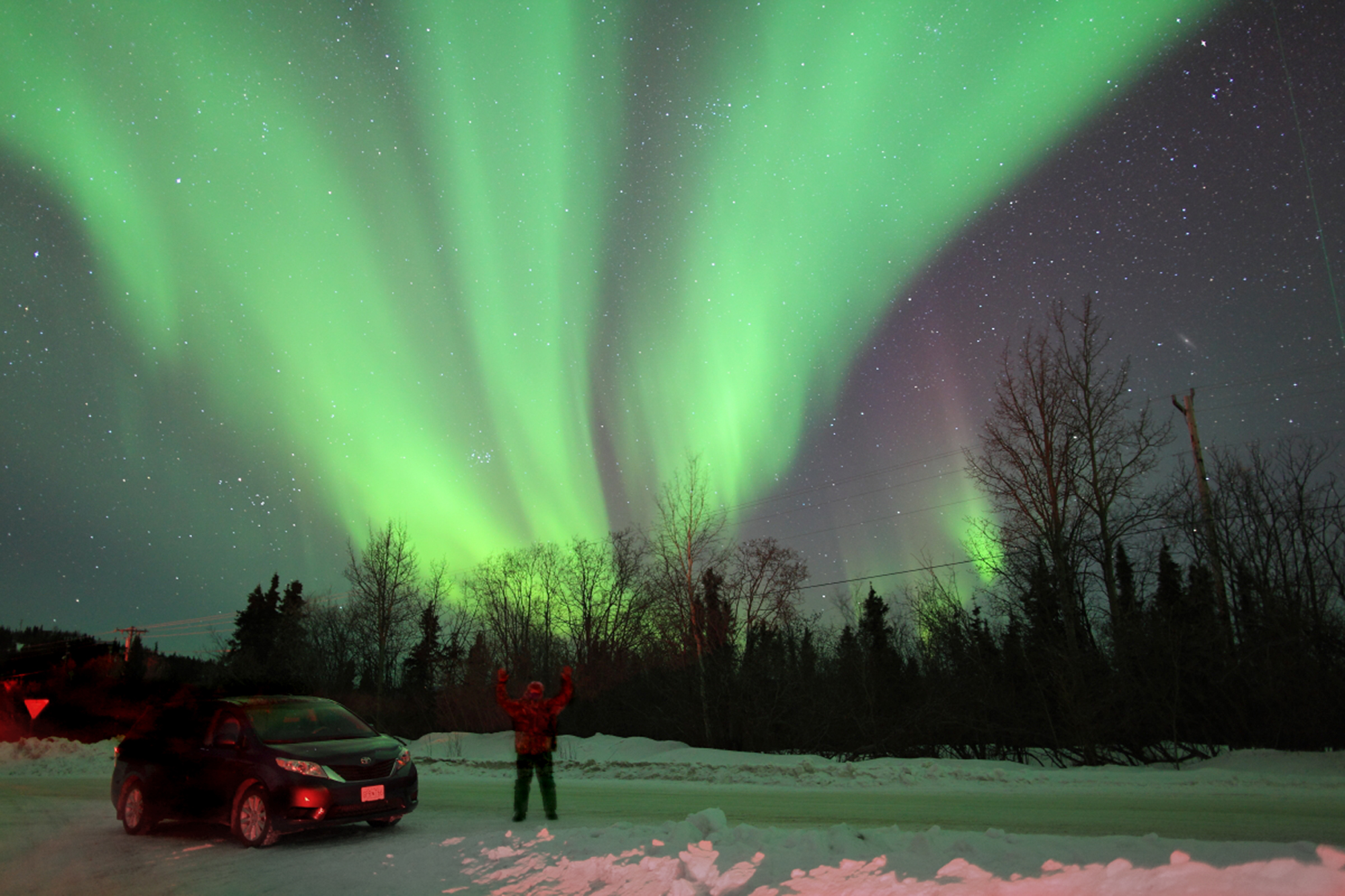The first day we were in Fairbanks, Alaska we had the Aurora. This was before the photo tour began and the start of 13 nights in a row of the lights.