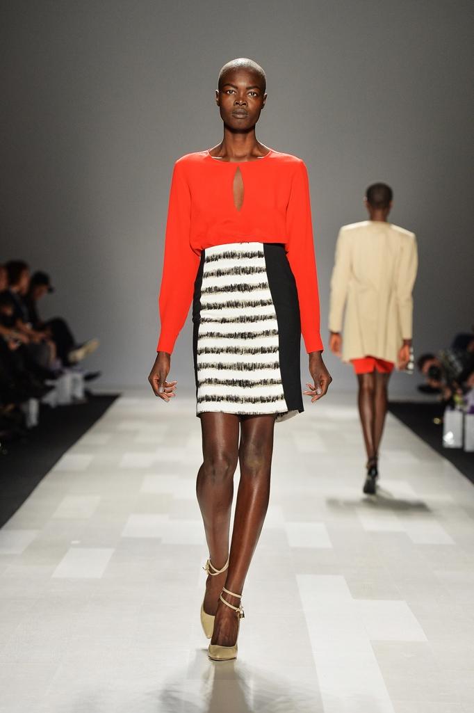 Model wears size 4