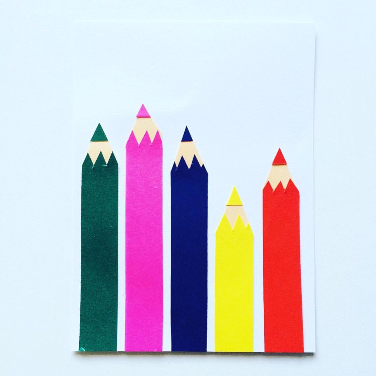 Image courtesy of @366cards on Instagram - Pencil Card to celebrate National Pencil Day