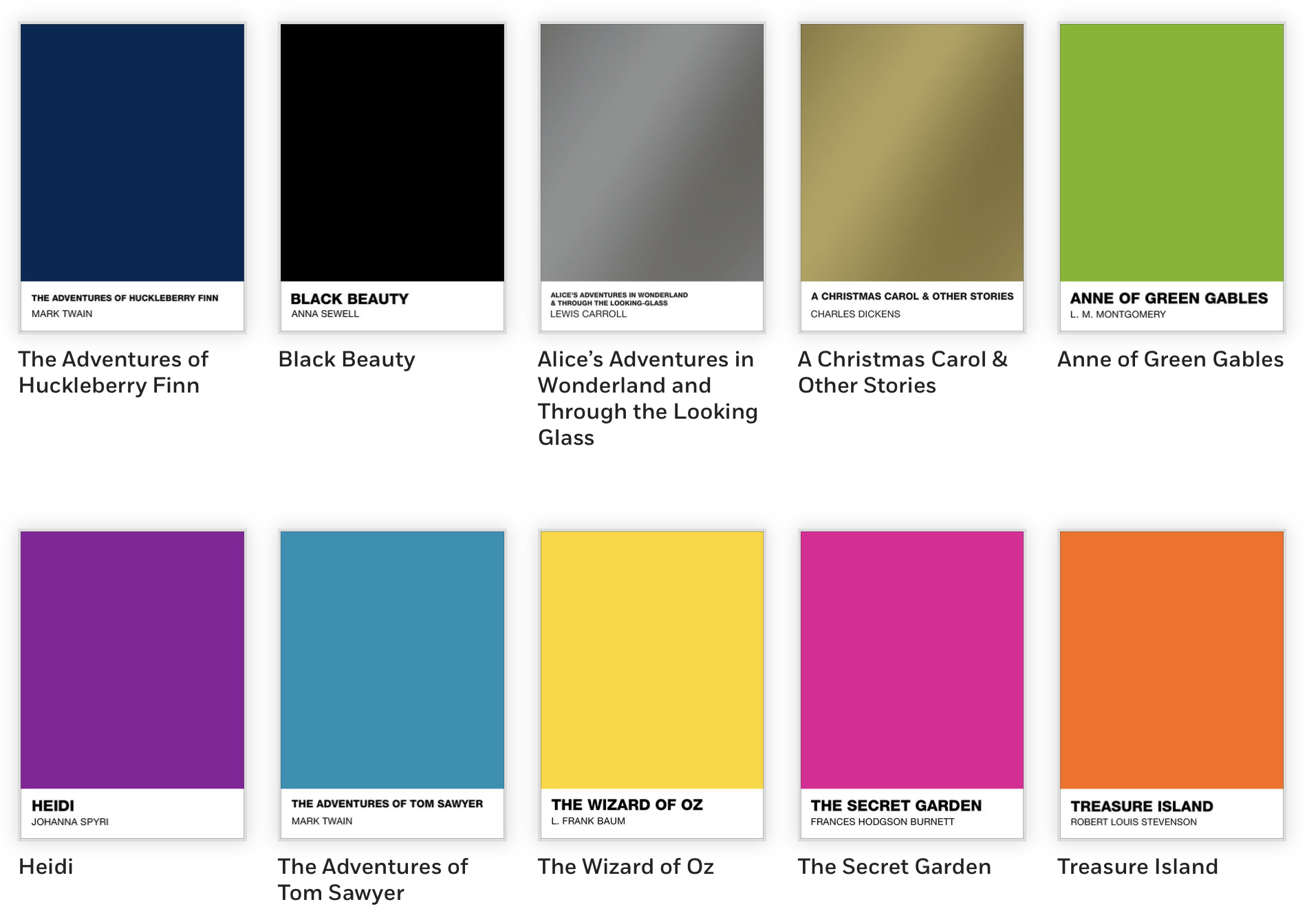 Puffin Books and Pantone