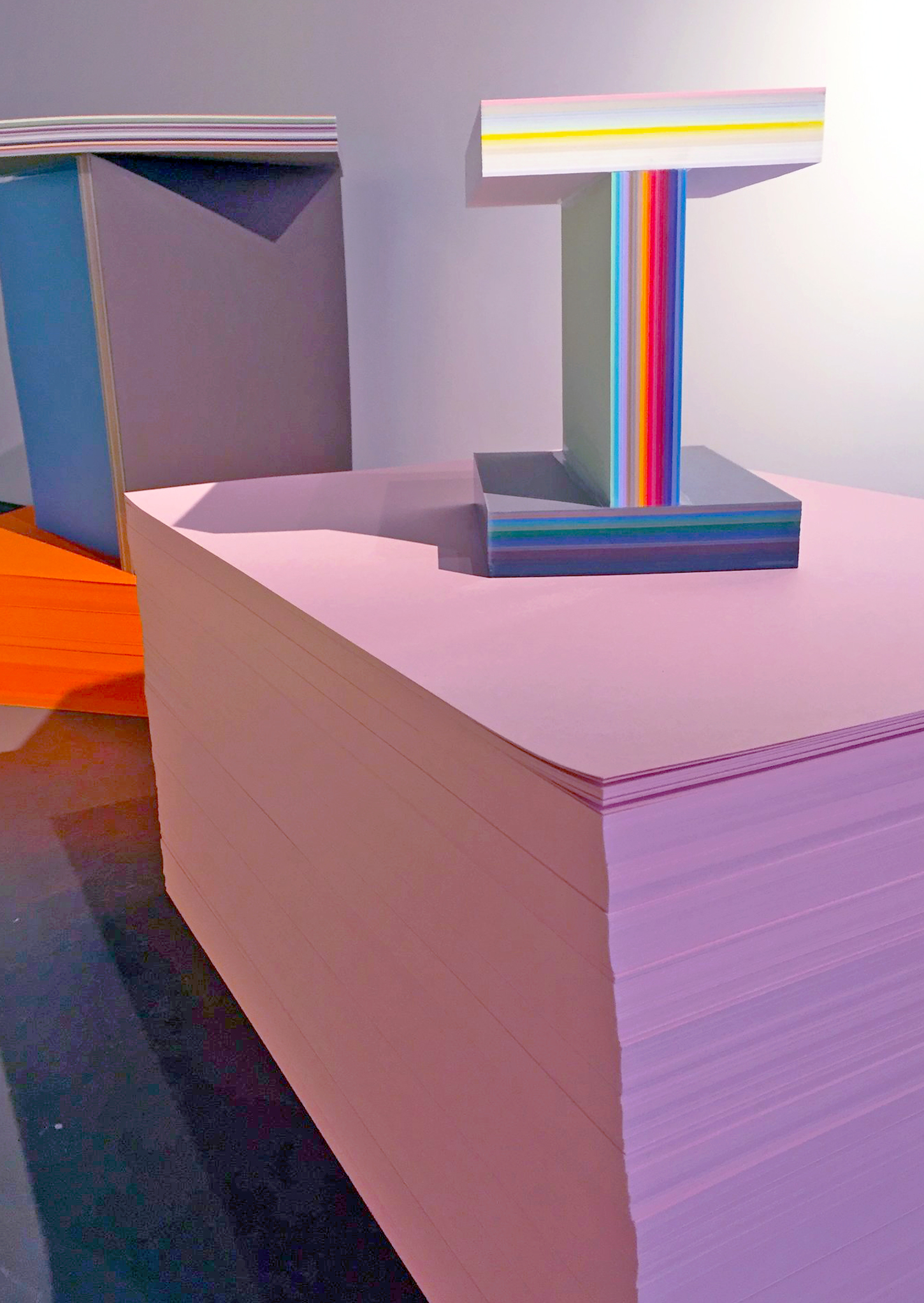 "Max Lamb - ""Furniture"" -   35,000 gsm  standard stock paper size of GF Smith Paper colourful paper furniture"