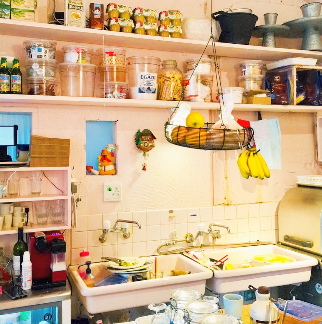 Soul satisfying working kitchen with retro vibes