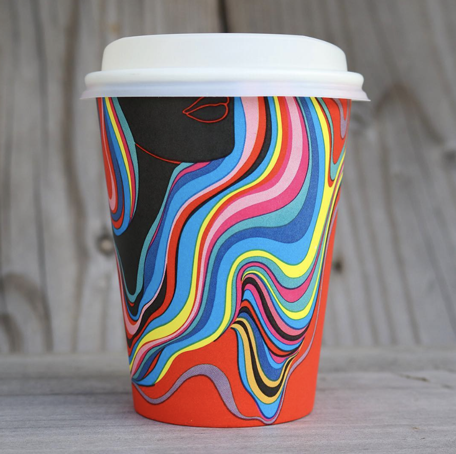 pattern coffee cups