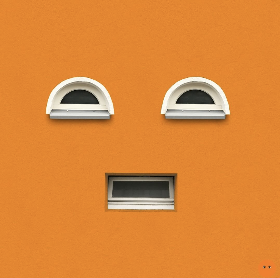 house with faces