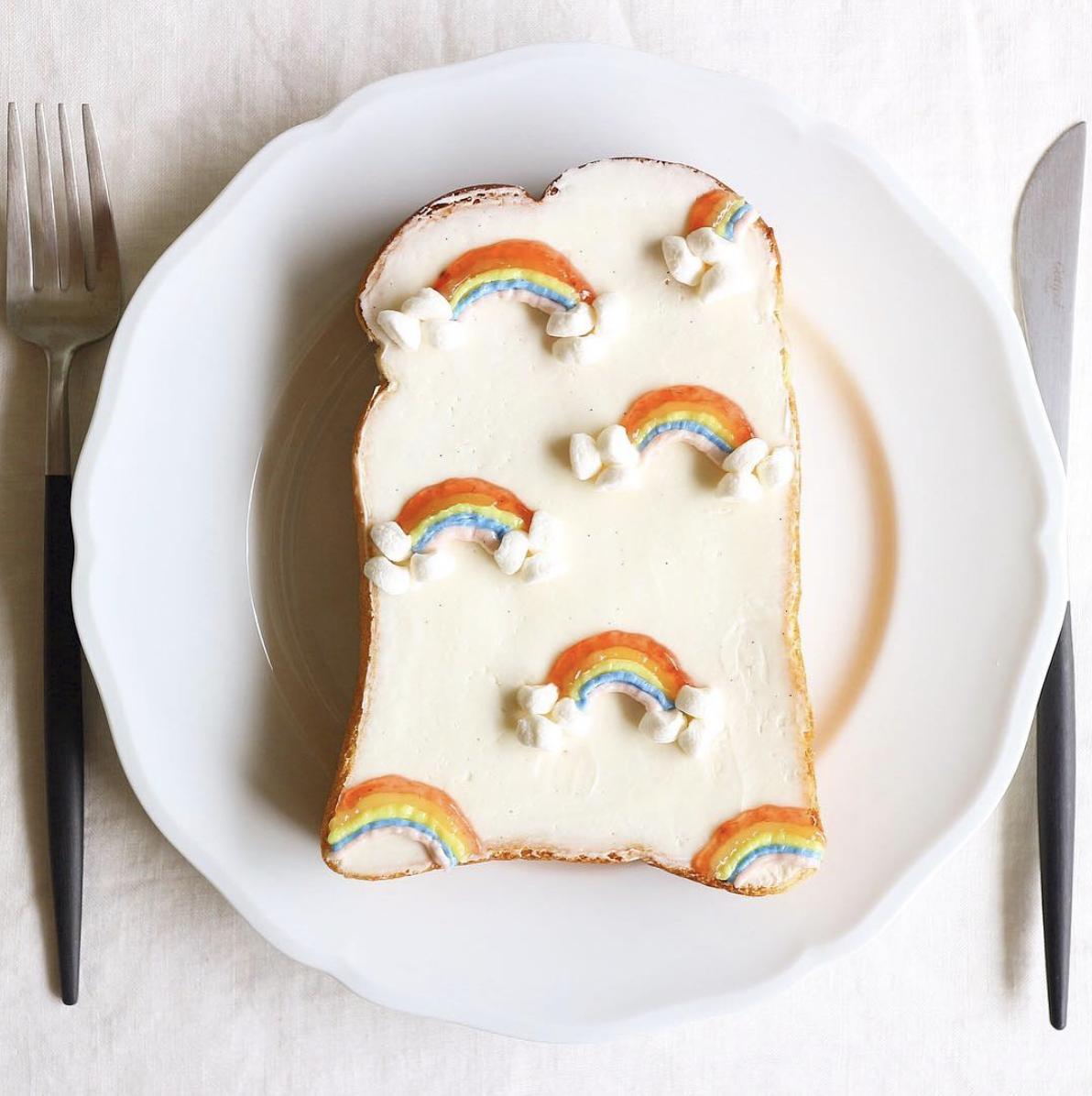 rainbow toast bread
