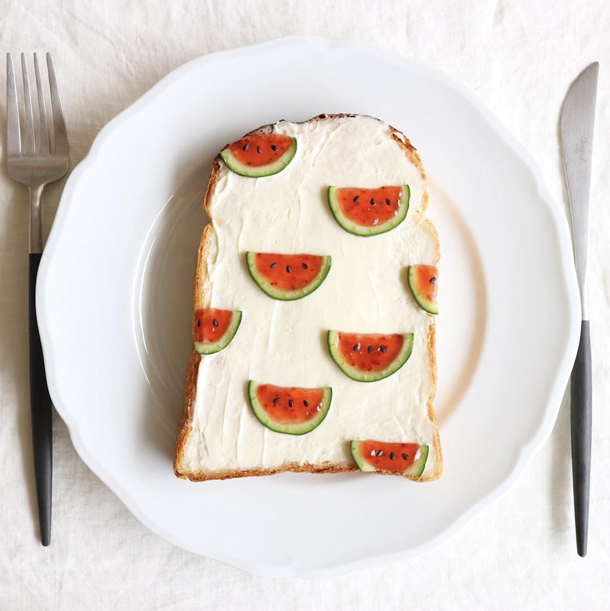 watermelon toast bread