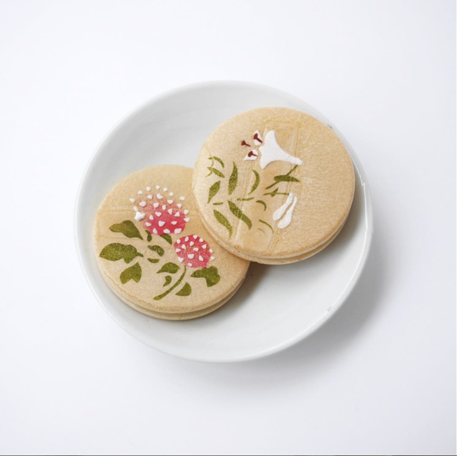 文銭堂 japanese flower cookie